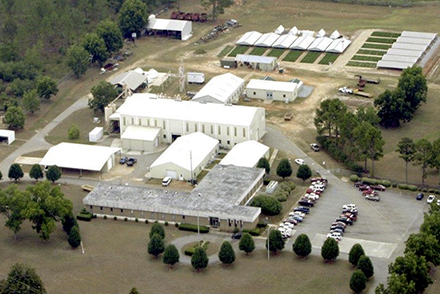 Aerial view of the National Peanut Research Lab in Dawson, Georgia