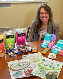 Tara McHugh with some of the many products researched and developed by her team in the Healthy Processed Foods Research Unit